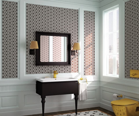 The Art of Solitaire from Creavit; Art Bathroom Cabinet